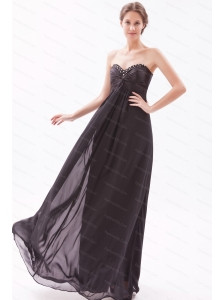Beading Sweetheart Empire Floor-length Dama Dress for Summer