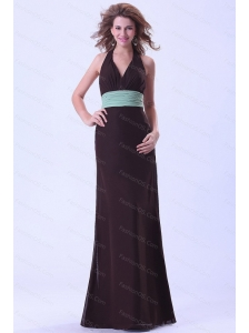 Long Brown Halter Dama Dresses On Sale