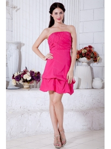 Ruch Hot Pink Mini-length Taffeta Dama Dress 2013
