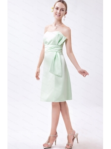Ruch Apple Green Column Mini-length Taffeta Dama Dress