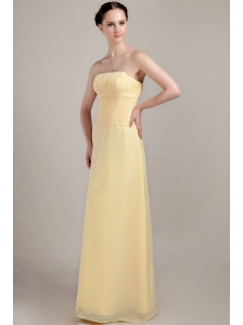 Ruch Column / Sheath Floor-length Chiffon Dama Dress
