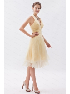 Ruch Halter Princess Organza Champagne Dama Dress
