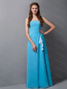Strapless Blue Floor-length Dama Dress On Sale