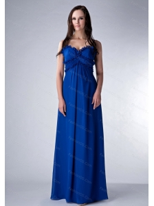 Straps Blue floor-length 2013 Discount Dama Dress