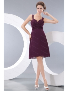 Straps Burgundy short Dama Dress On Sale Online