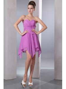 Bow Asymmetrical Sweetheart Lavender 2013 Dama Dress