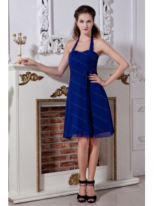 Bow Halter Mini-length 2013 simple Dama Dress