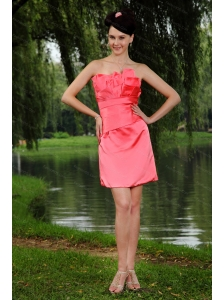 Ruch Column Watermelon Mini-length Taffeta Dama Dress