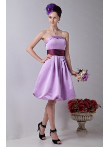 Sashes Lavender A-line Taffeta Lavender Dama Dress 2013