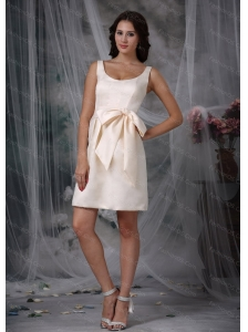 Scoop Sash Off White Dama Dresses for Quinceanera