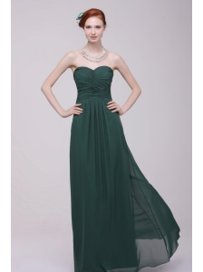 Sweetheart Chiffon Empire Ruche Floor-length Prom Dress for Cheap