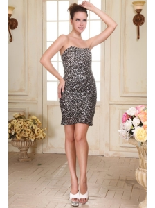 Sexy Column Short Prom Dress with Sequins Mini-length