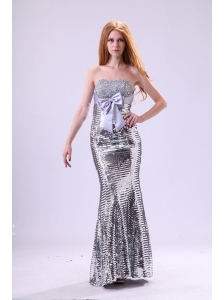 2014 Column Sweetheart Floor-length Grey Beading Sequins Prom Dress