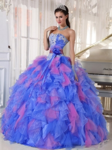 Popular Sweetheart Unique Quinceanera Dresses with Appliques and Ruffles