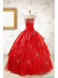 Most Popular Strapless Quinceanera Dresses for 2015