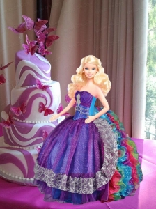 Muti-color Quinceanera Dress For Quinceanera Doll With Ruffles