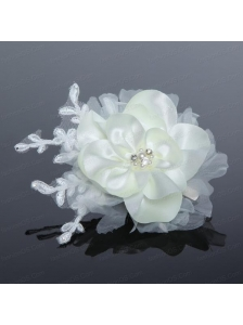 Tulle and Lace Wedding Fascinators with Imitation Pearls