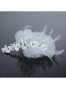 Fashionable Feather Tulle Rhinestone Fascinators for Women