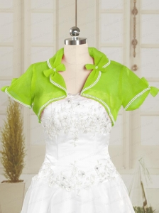 Spring Green Wedding Beading Party Organza Shawls