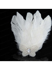 Unique White Pearl Feather for Wedding