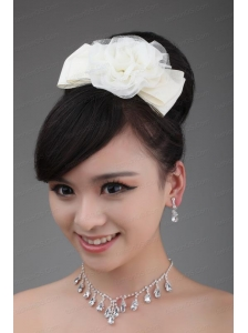 White Tulle Cheap Hairpins Birdcage Veils with Lace