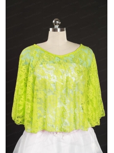 2014 Beading Lace Yellow Green Hot Sale Wraps