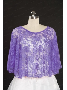 Lavender Hot Sale  2014 Wraps with Beading Lace