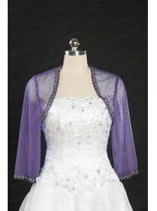 2014 Lavender Long Sleeves Wraps with Beading