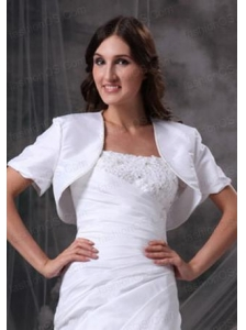 Gorgeous White Open Front Quinceanera Jacket