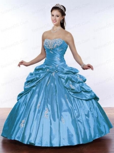 Cheap Beading and Pick Ups Sweet 16 Dress with Appliques