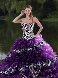 Popular ball gown sweetheart-neck floor-length quinceanera dresses