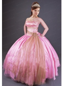 Sweet Organza and Taffeta Quinceanera Dress with Embroidery
