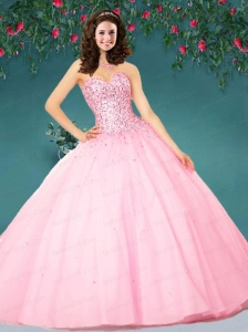 2015 The Super Hot Bbay Pink Quinceanera Dress with Beading