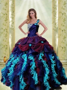 2015 Unique Multi-color Quinceanera Dresses with Ruffles