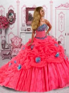 Elegant Ball Gown Sweetheart Quinceanera Dress with Beading and Pick-ups