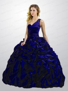 Exclusive Pick-ups and Beading Quinceanera Dress in Dark Purple