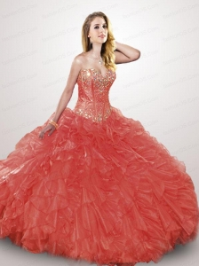 2015 The Super Hot Multi-color Quinceanera Dress with Beading and Ruffles