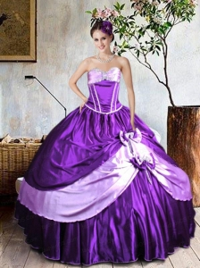 Brand New Purple Quinceanera Dresses with Bowknots and Beading