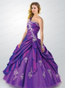 New Arrival One Shoulder Quinceanera Dress with Appliques and Beading