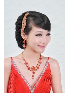 Luxurious Alloy Ladies' Jewelry Sets