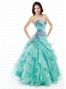 2014 Cheap Ruffled Layers and Appliques Sweet 16 Dress