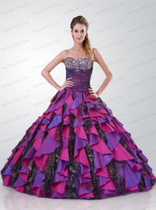 Newest Strapless Quinceanera Dress with Appliques and Hand Made Flowers