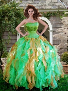 Wonderful Multi-color Quinceanera Dresses sswith Ruffles