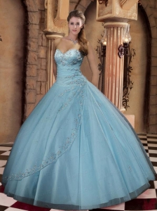 Cheap Ball Gown Sweetheart Floor-length Quinceanera Gown