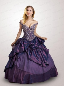 Fashionable Off the Shoulder Quinceanera Dress with Appliques For 2015