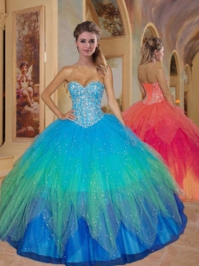 Special Sweetheart Beading Quinceanera Dresses in Multi-color