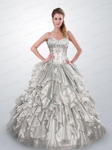 Quinceanera Dresses in Silver, Silver Quinceanera Dama Dresses ...