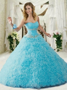 Brand New Sweetheart Blue Quinceanera Dresses with Appliques and Ruffles