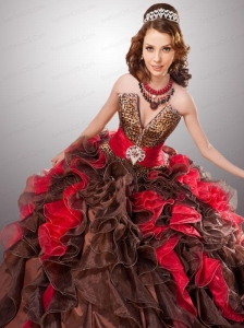 Exquisite Ruffles Organza Quinceanera Dresses in Multi-color For 2015