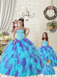 2015 New Arrival Multi-color Dress for Princesita with Beading and Ruffles